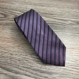 Marc Anthony Purple w/ Black Stripe Skinny Tie